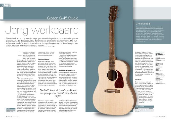 Gibson G-45 Studio - test uit Gitarist 345