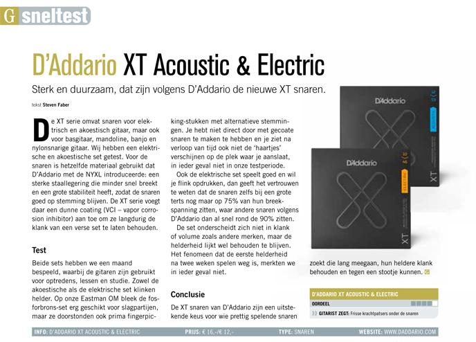 DAddario XT Acoustic & Electric - test uit Gitarist 345