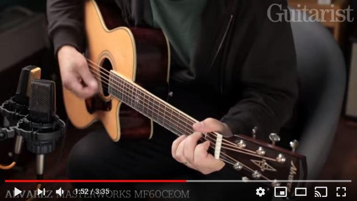 Video bij de Alvarez test in Gitarist 349