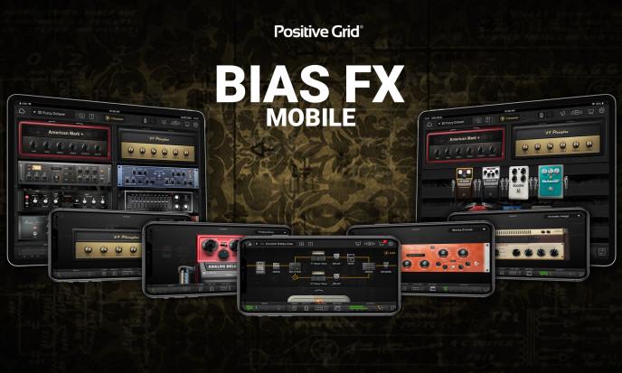 Play, Create, Connect met gratis Positive Grid BIAS FX Mobile