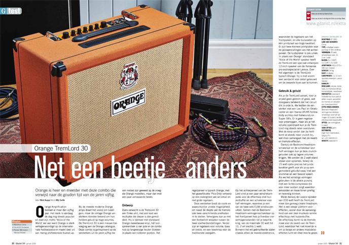 Orange TremLord 30 - test uit Gitarist 346