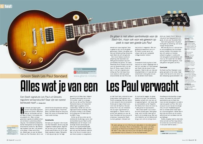 Gibson Slash Les Paul Standard - test uit Gitarist 347