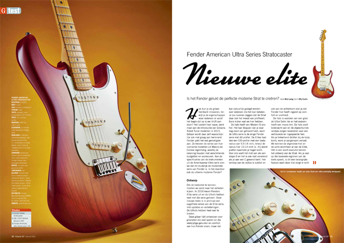 Fender American Ultra Series Stratocaster - test uit Gitarist 347