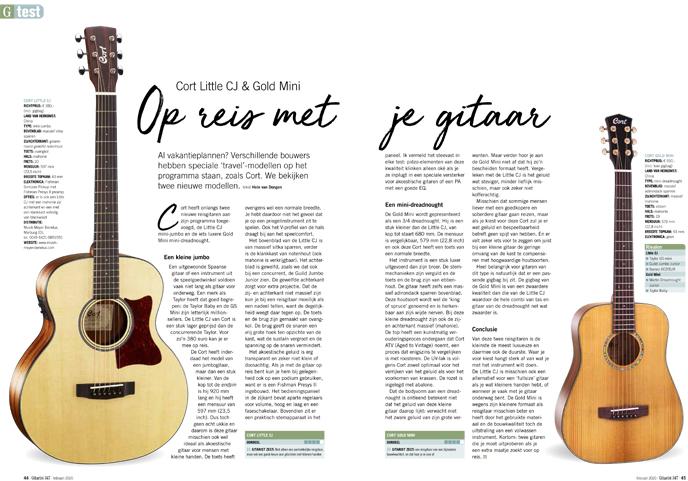 Cort Little CJ & Gold Mini - test uit Gitarist 347