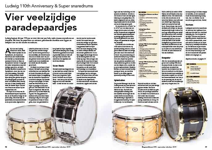 Ludwig 110th Anniversary & Super snaredrums
