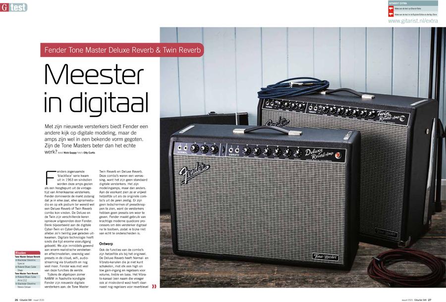 Fender Tone Master Deluxe Reverb & Twin Reverb - test uit Gitarist 348