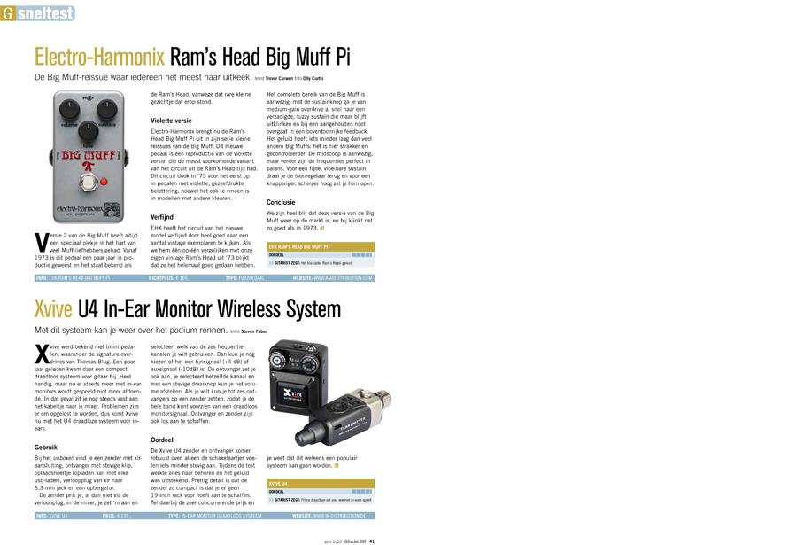 Xvive U4 In-Ear Monitor Wireless System - test uit Gitarist 349