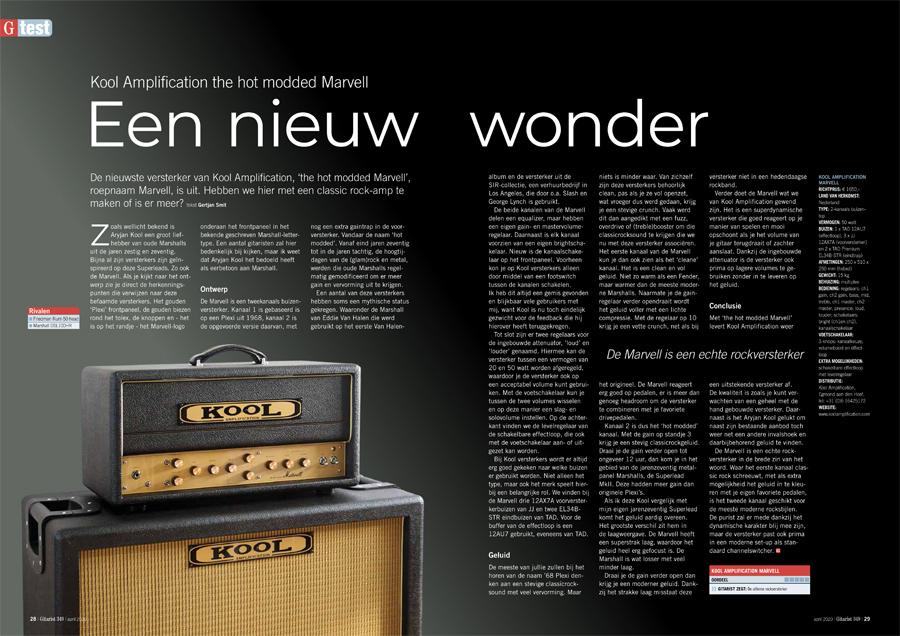 Kool Amplification the hot modded Marvell - test uit Gitarist 349