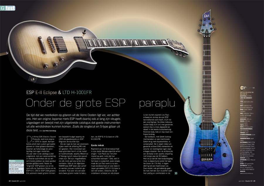 ESP E-II Eclipse & LTD H-1001FR - test uit Gitarist 349