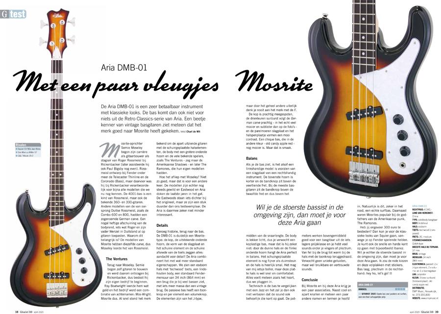 Aria DMB-01 - test uit Gitarist 349