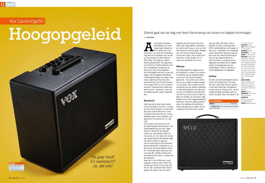 Vox Cambridge50 - test uit Gitarist 350