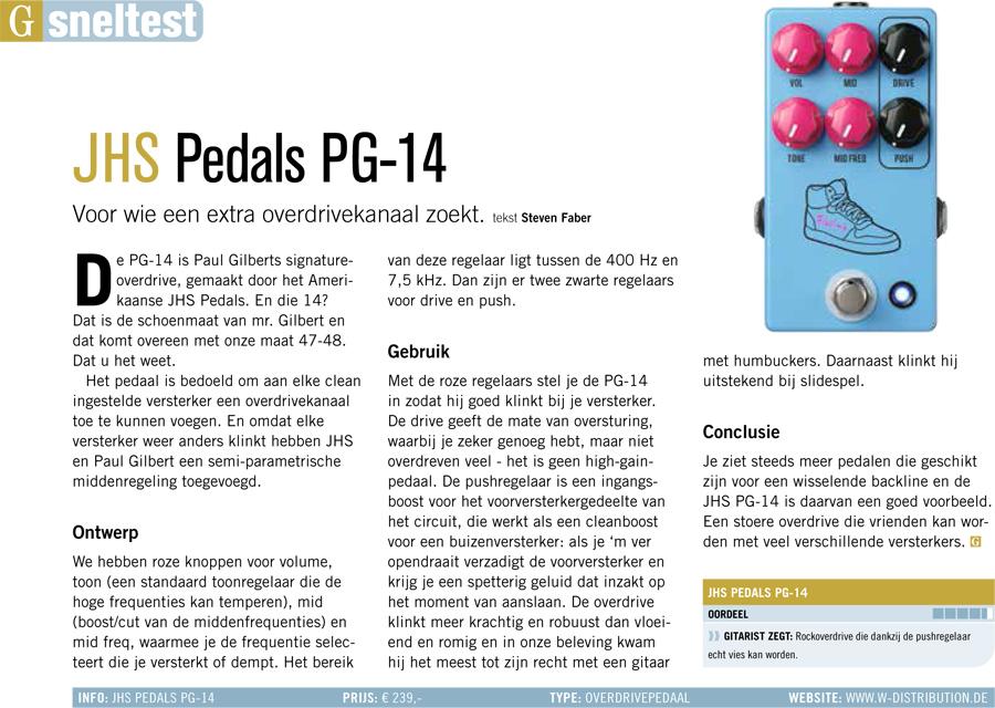 JHS Pedals PG-14 - test uit Gitarist 350