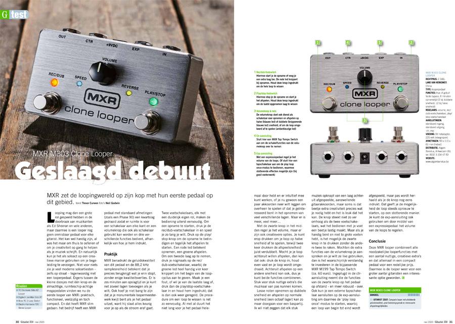 MXR M303 Clone Looper - test uit Gitarist 350