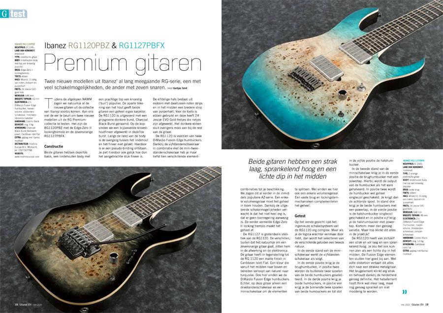 Ibanez RG1120PBZ & RG1127PBFX - test uit Gitarist 350