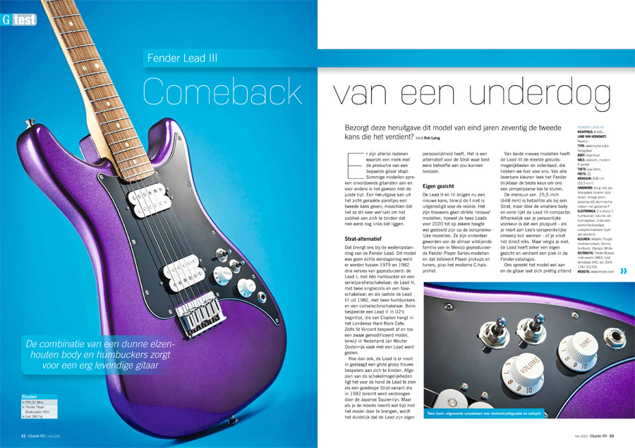 Fender Lead III - test uit Gitarist 350