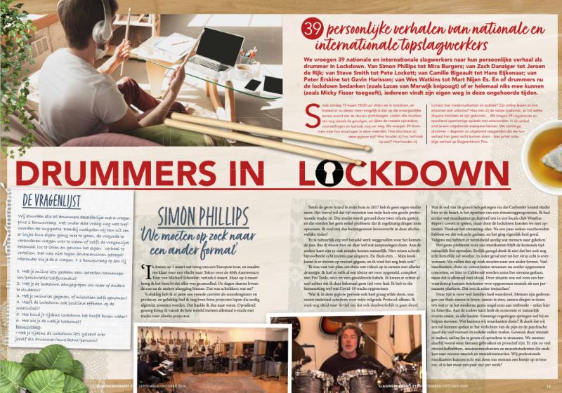 Drummers in lockdown