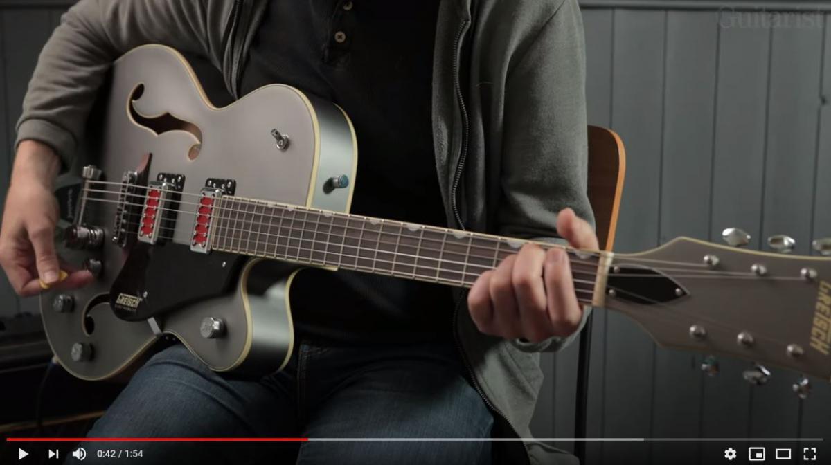Video bij de Gretsch test in Gitarist 354