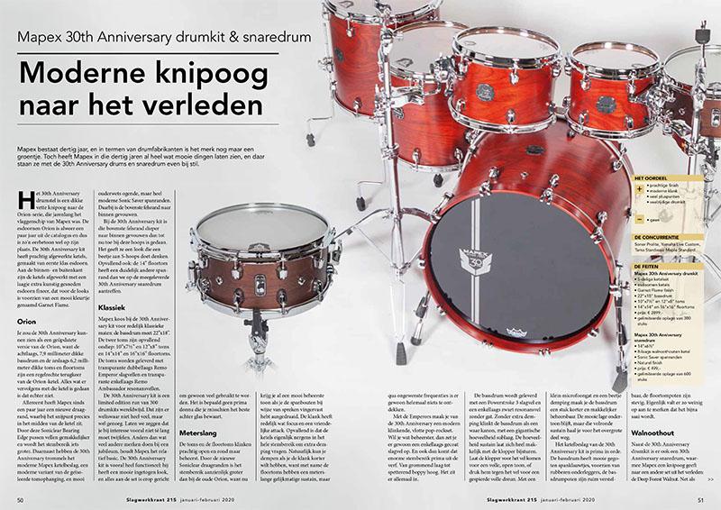 Mapex 30th Anniversary kit & snaredrum