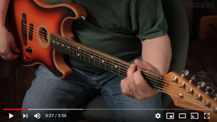 Video bij de Fender test in Gitarist 355