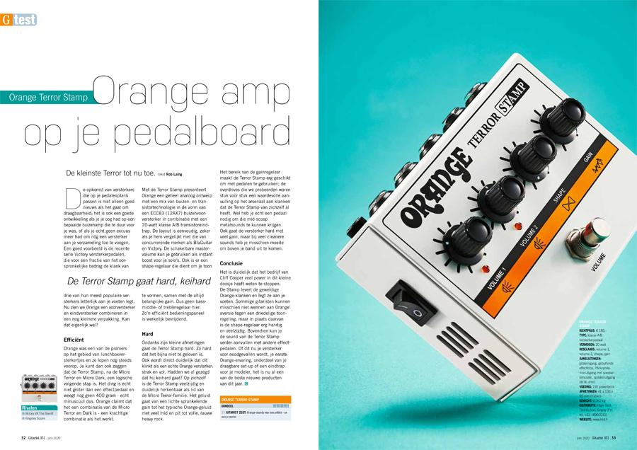 Orange Terror Stamp - test uit Gitarist 351