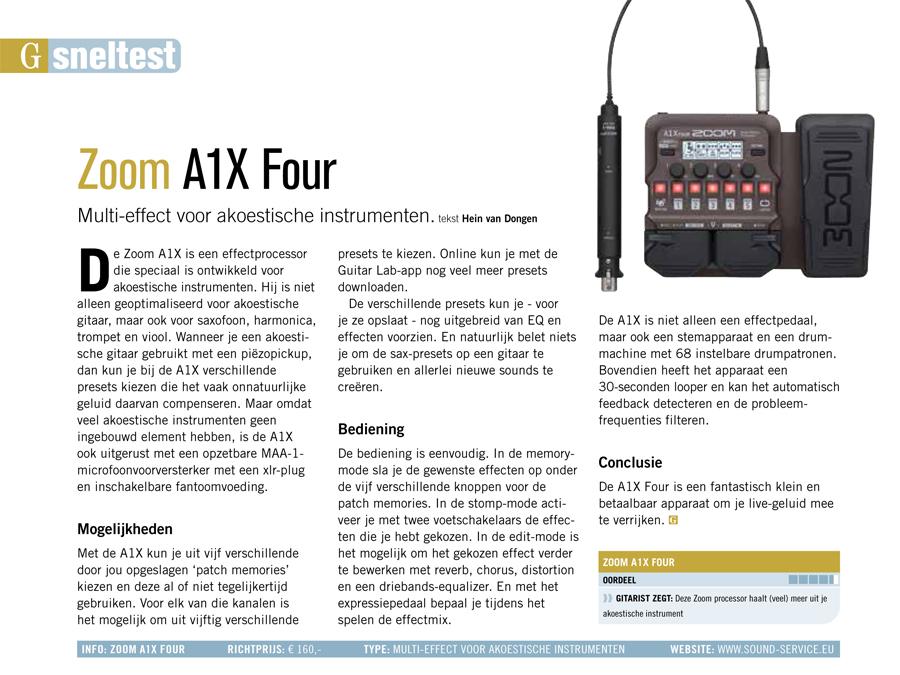 Zoom A1X Four - test uit Gitarist 351