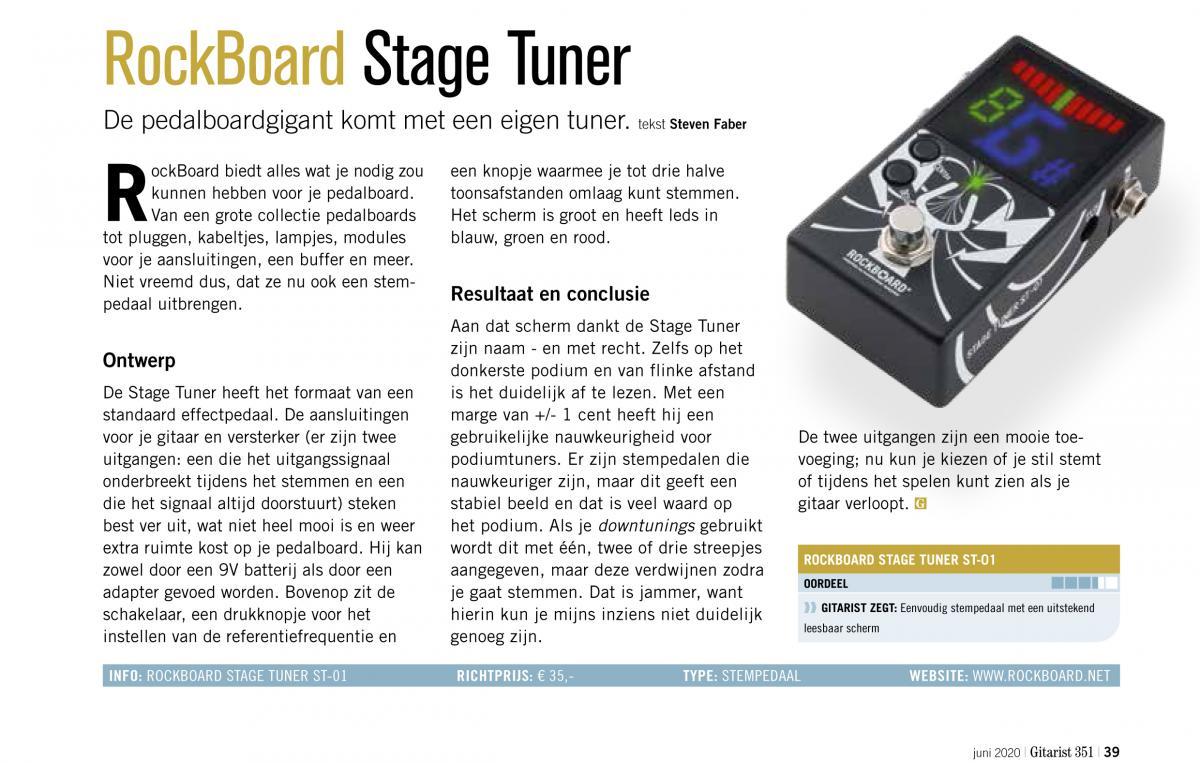 RockBoard Stage Tuner - test uit Gitarist 351