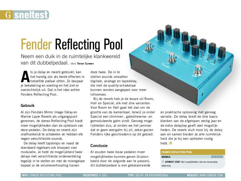 Fender Reflecting Pool - test uit Gitarist 352