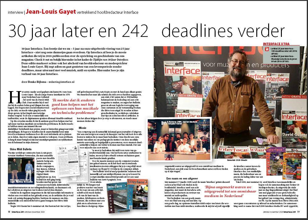 Interface 30 jaar met Jean-Louis Gayet