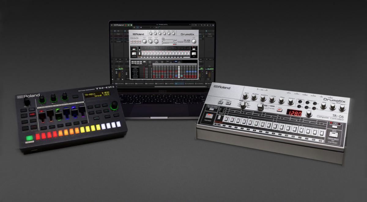 Roland TR-6S en TR-06 drummachines en TR-606 plug-in