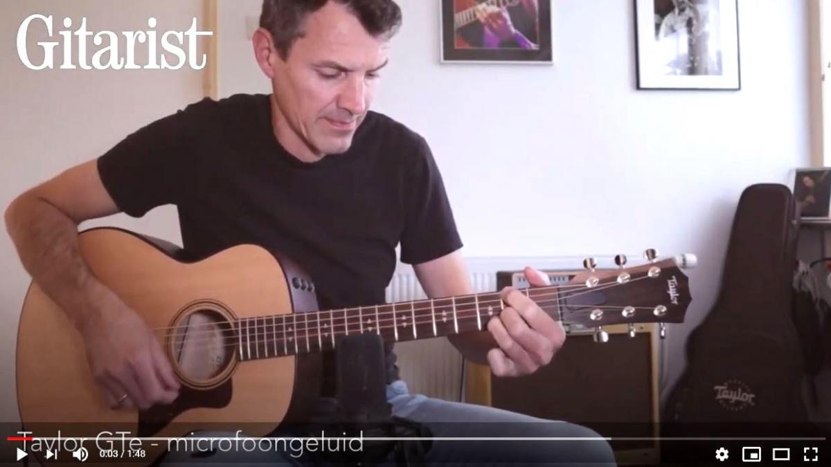 Video bij de Taylor test in Gitarist 356