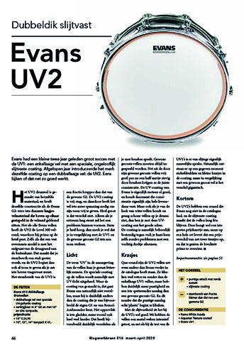 Evans UV2 vellen