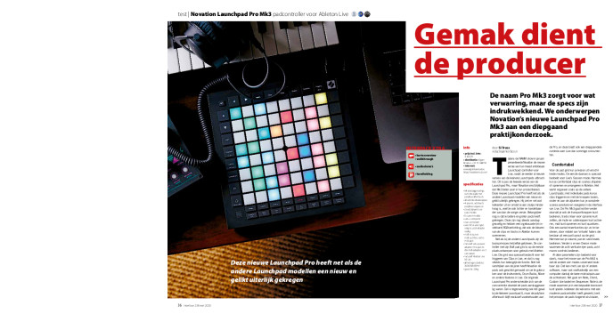 Novation Launchpad Pro Mk3 padcontroller voor Ableton Live