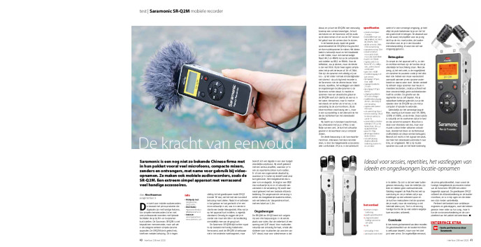 Saramonic SR-Q2M mobiele recorder