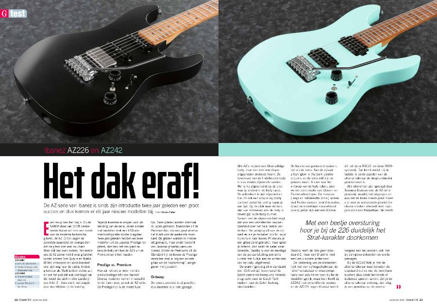Ibanez AZ226 & AZ242 - test uit Gitarist 354