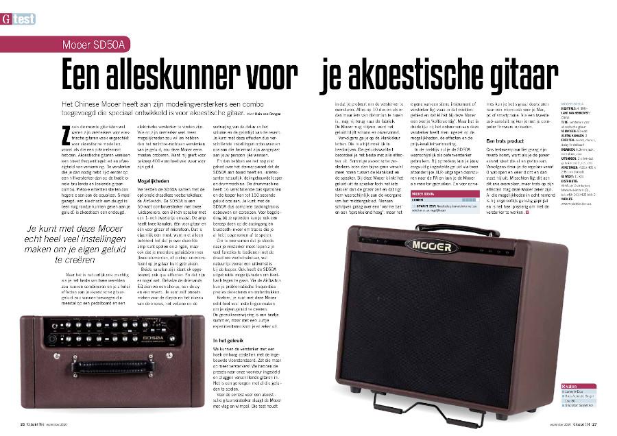 Mooer SD50A - test uit Gitarist 354