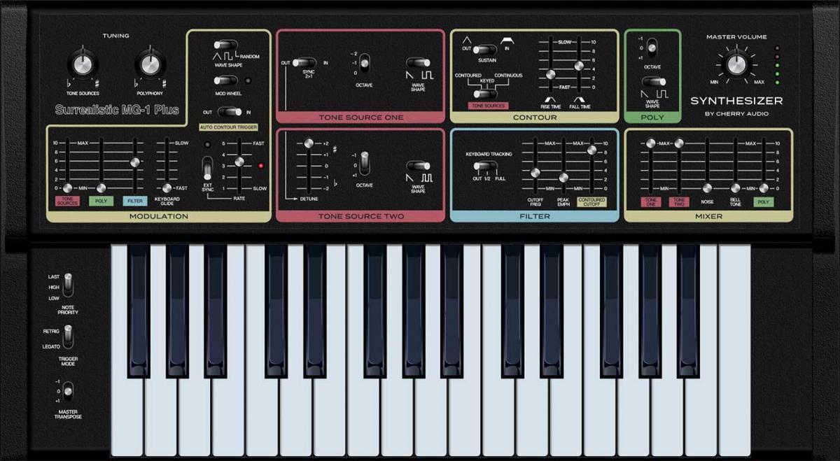 Cherry Audio Surrealistic MG-1 Plus en Synth Stack Bundle