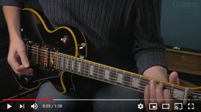 Video bij de Epiphone test in Gitarist 358