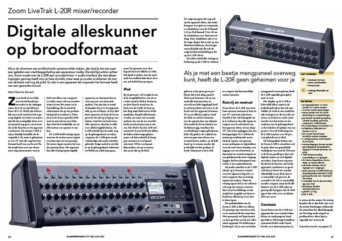 Zoom LiveTrak L-20R mixer/recorder