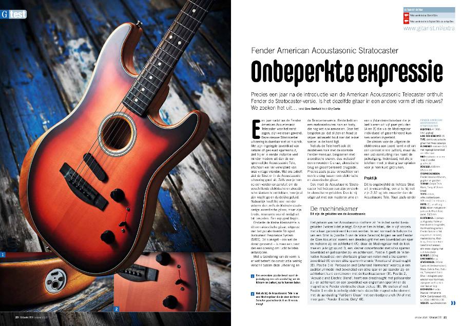Fender American Acoustasonic Stratocaster - test uit Gitarist 355