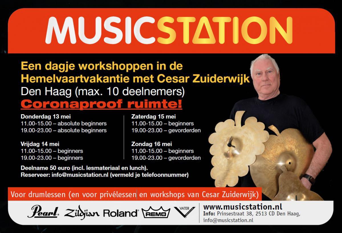 Een dagje workshoppen in de Hemelvaartvakantie met Cesar Zuiderwijk