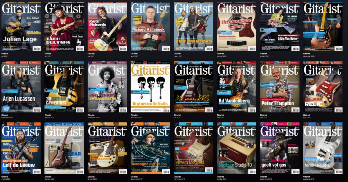 Lees Gitarist op je mobiel, tablet, of laptop