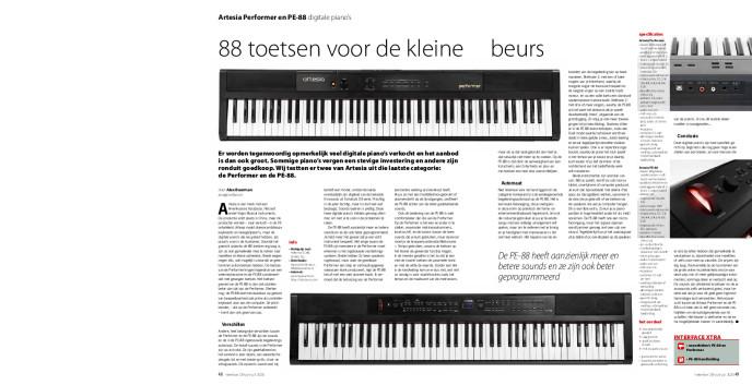 Artesia Performer en PE-88 digitale piano's