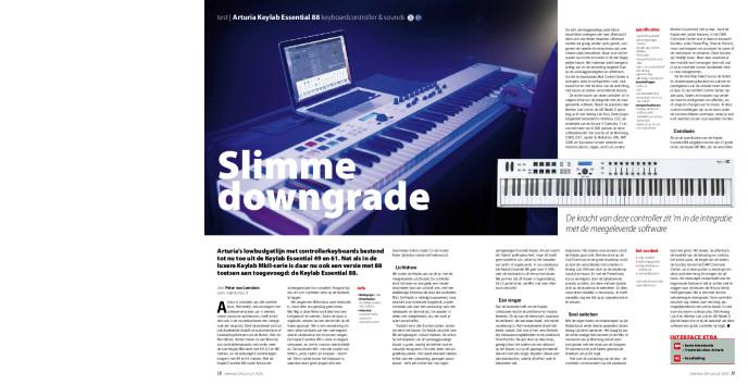 Arturia Keylab Essential 88 keyboardcontroller & sounds