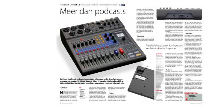 Zoom LiveTrak L-8 mixer, audio-interface en meersporenrecorder
