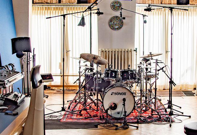 Microfoons om drums op te nemen - Juan van Emmerloot