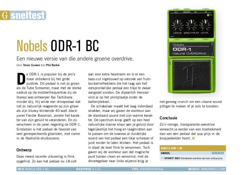 Nobels ODR-1 BC - test uit Gitarist 356