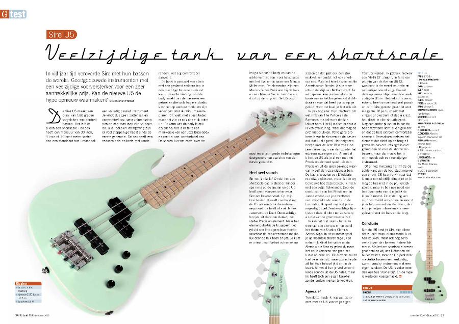 Sire U5 - test uit Gitarist 356