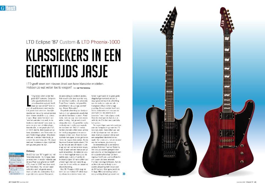 LTD Eclipse '87 Custom & LTD Phoenix-1000 - test uit Gitarist 356