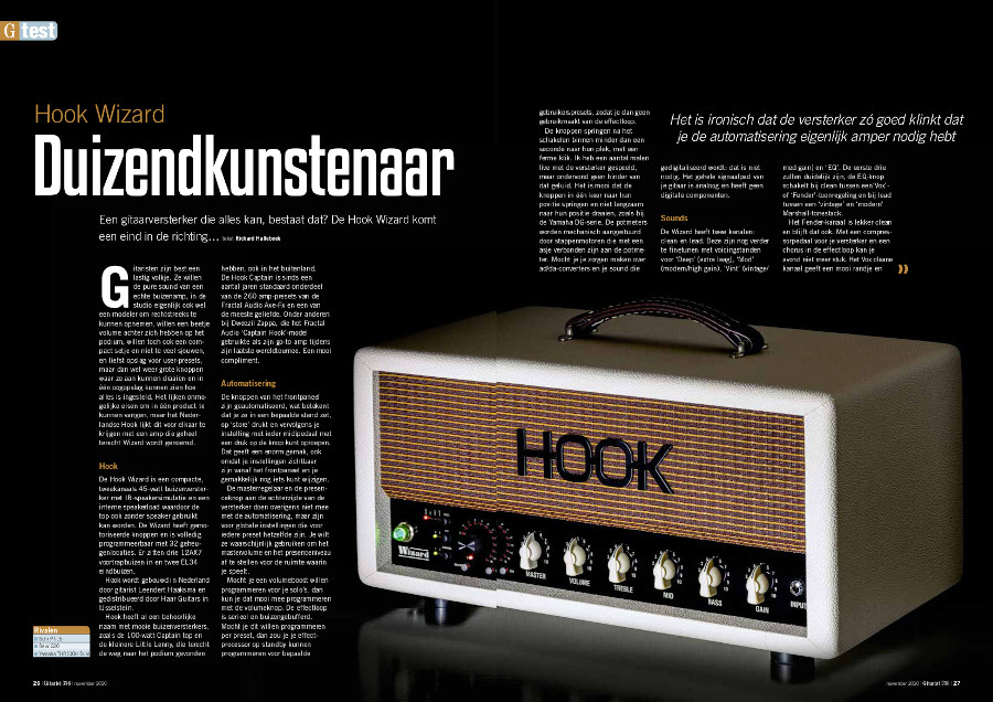 Hook Wizard - test uit Gitarist 356