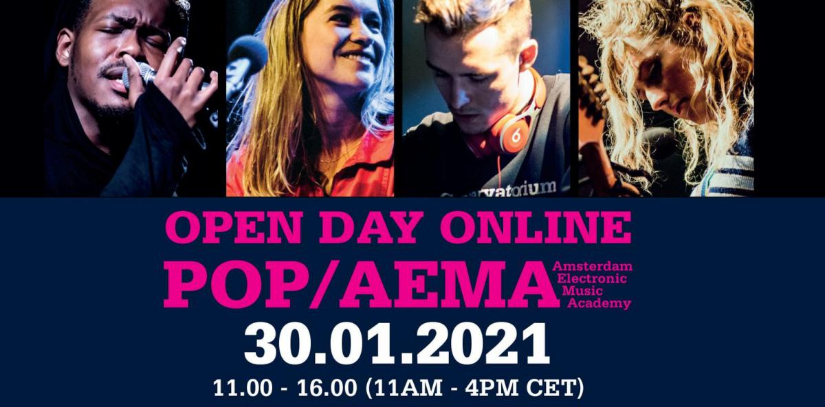 za 30-1 Open Dag - online - Popafdeling Conservatorium van Amsterdam en AEMA